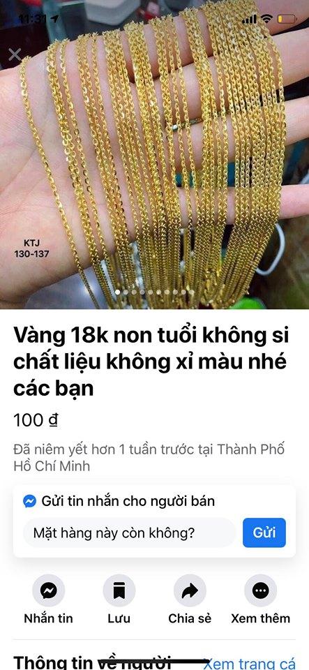 vàng non 10k - vàng giả - vàng 610